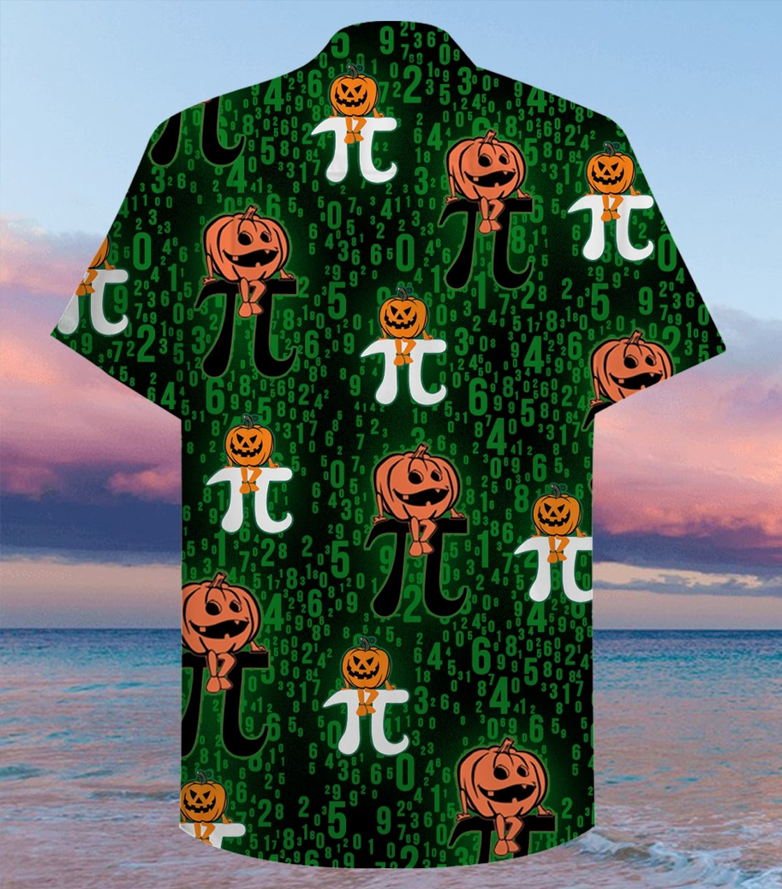 halloween pumpkin pi full printing hawaiian shirt 2