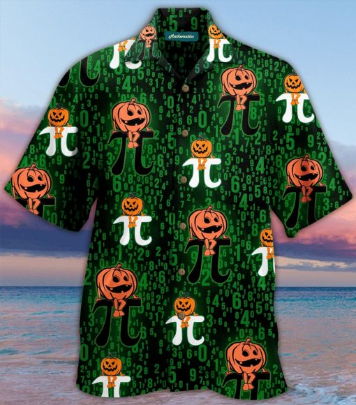 halloween pumpkin pi full printing hawaiian shirt 3
