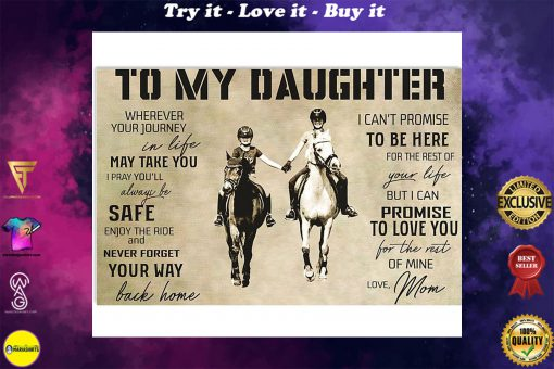 horse to my daughter love mom poster