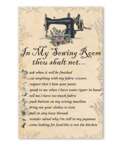in my sewing room thou shalt not bedroom decor poster 1