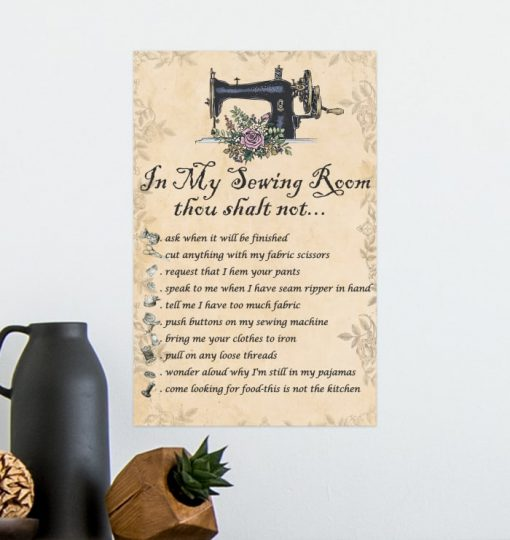 in my sewing room thou shalt not bedroom decor poster 3