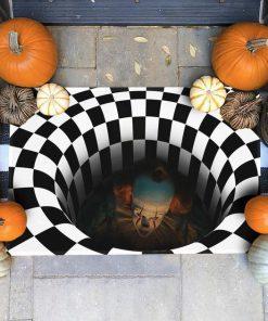 it movie illusion halloween doormat 1 - Copy (2)