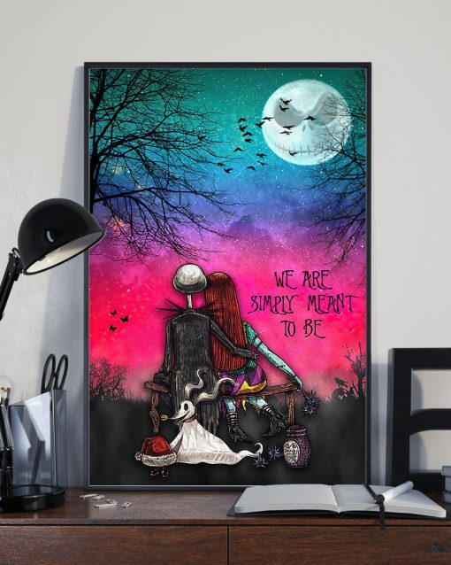 jack skellington and sally we are simply meant to be retro poster 2