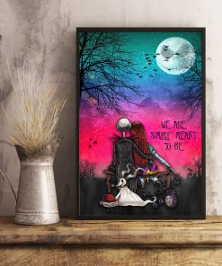 jack skellington and sally we are simply meant to be retro poster 3