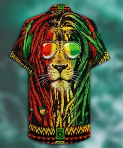 jamaica lion full printing hawaiian shirt 2