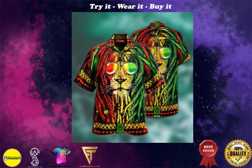 jamaica lion full printing hawaiian shirt