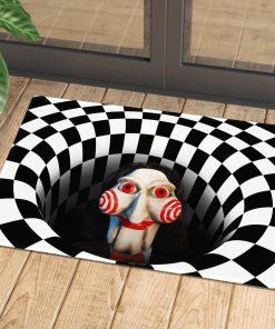 jigsaw billy the puppet illusion halloween doormat 1