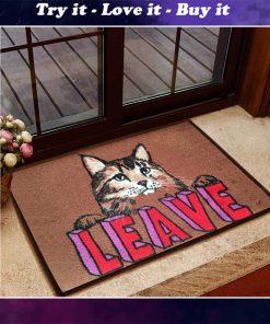 leave cat doormat