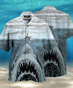 let shark kiss you full printing hawaiian shirt 1