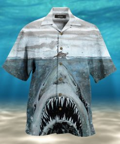 let shark kiss you full printing hawaiian shirt 2
