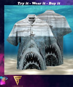 let shark kiss you full printing hawaiian shirt