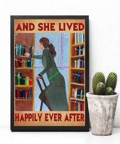 librarian and she lived happily ever after retro poster 4