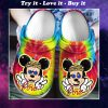 love mickey mouse tie dye crocs