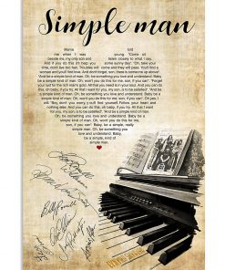 lynyrd skynyrd simple man piano heart signatures poster 1