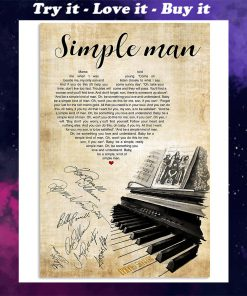 lynyrd skynyrd simple man piano heart signatures poster