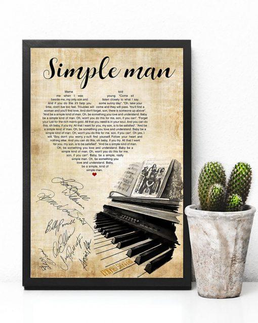 lynyrd skynyrd simple man piano heart signatures poster 4
