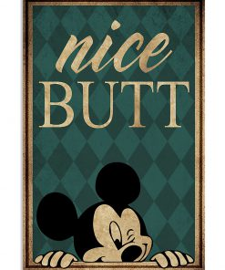 mickey mouse nice butt retro poster 1