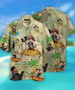 mickey mouse pirate full printing hawaiian shirt 1