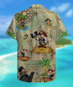 mickey mouse pirate full printing hawaiian shirt 2