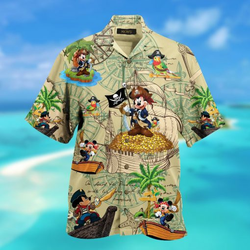 mickey mouse pirate full printing hawaiian shirt 3