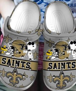 national football league new orleans saints and snoopy crocs 1 - Copy (2)