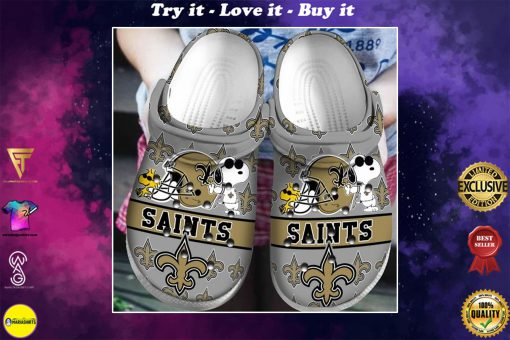 national football league new orleans saints and snoopy crocs