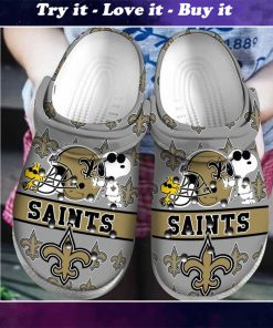national football league new orleans saints and snoopy crocs - Copy