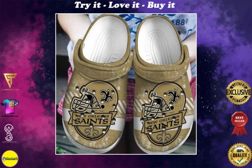 national football league new orleans saints helmet crocs
