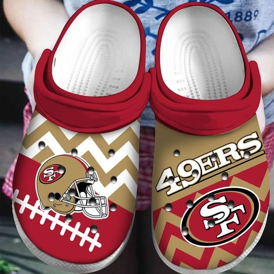 national football league san francisco 49ers helmet crocs 1