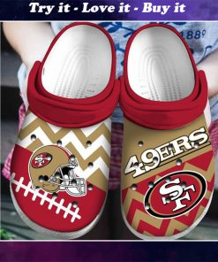 national football league san francisco 49ers helmet crocs