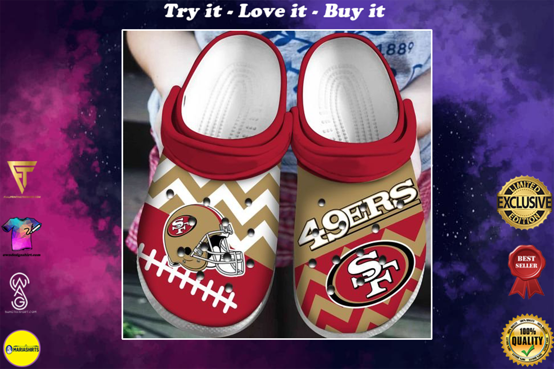 national football league san francisco 49ers helmet crocs - Copy