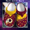 national football league washington redskins crocs