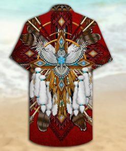 native american owl full printing hawaiian shirt 2