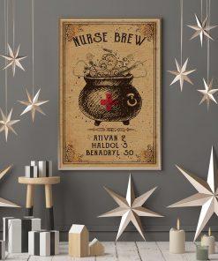 nurse brew ativan 2 haldol 5 benadryl 50 halloween retro poster 4
