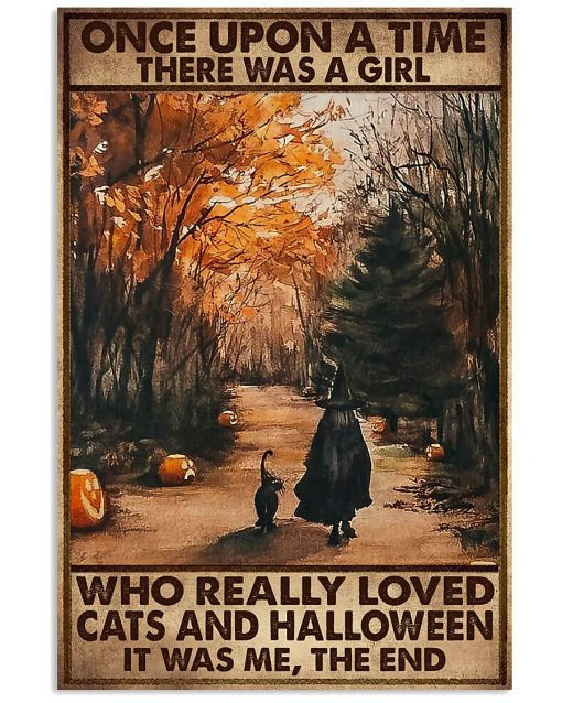 once upon a time there was a girl who really loved cats and halloween poster 1