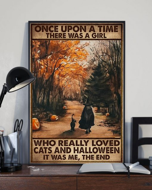 once upon a time there was a girl who really loved cats and halloween poster 3
