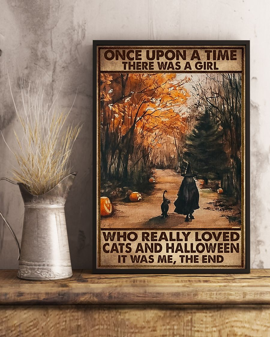 once upon a time there was a girl who really loved cats and halloween poster 4