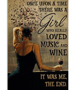 once upon a time there was a girl who really loved music and wine poster 1