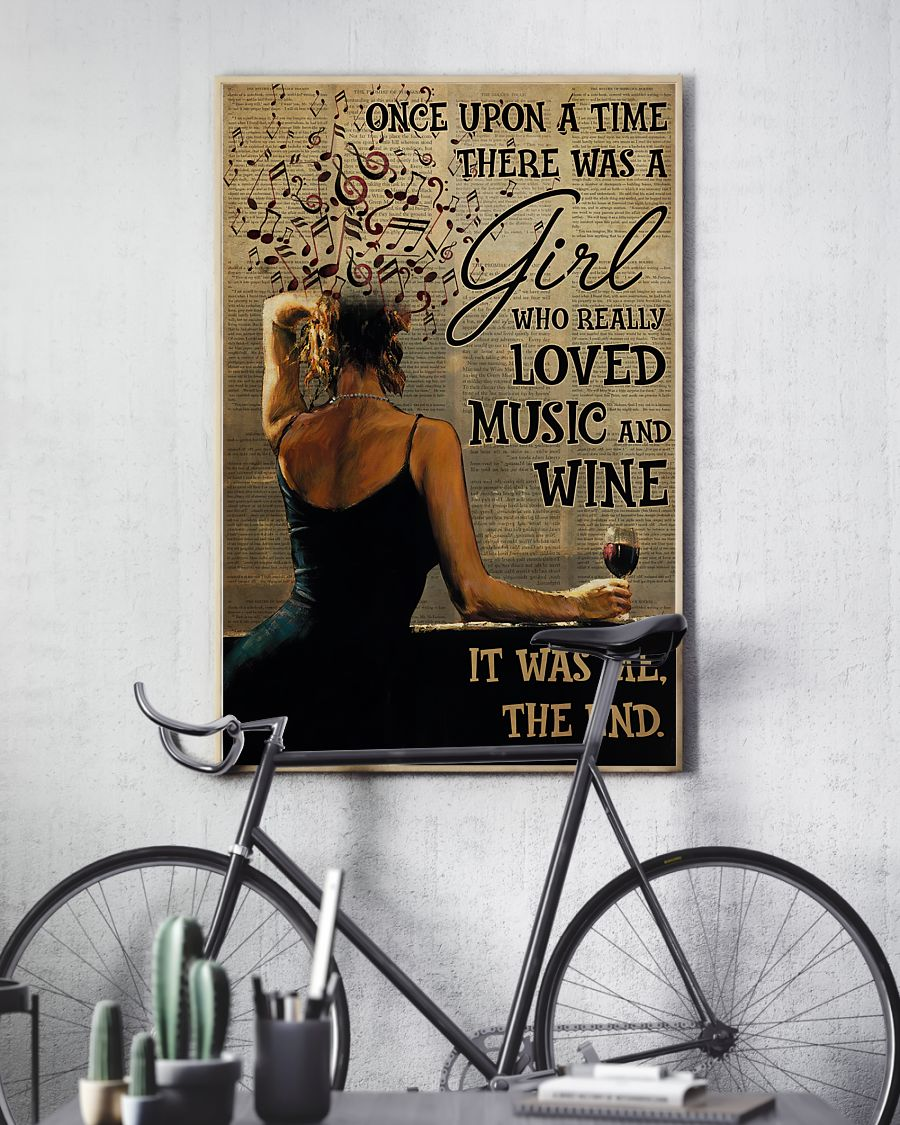 once upon a time there was a girl who really loved music and wine poster 4