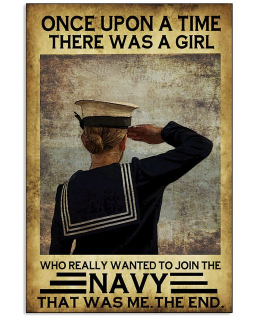 once upon a time there was a girl who really wanted to join the navy retro poster 1
