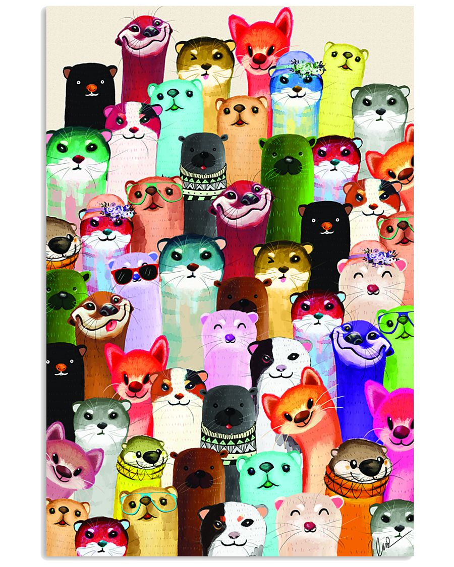 otter colorful poster 1