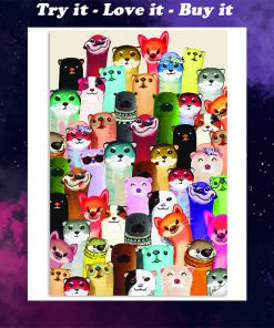 otter colorful poster