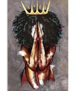 praying black queen watercolor poster 1