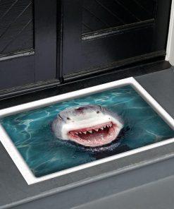 shark all over printed doormat 1