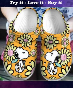 snoopy and charlie brown daisy crocs - Copy
