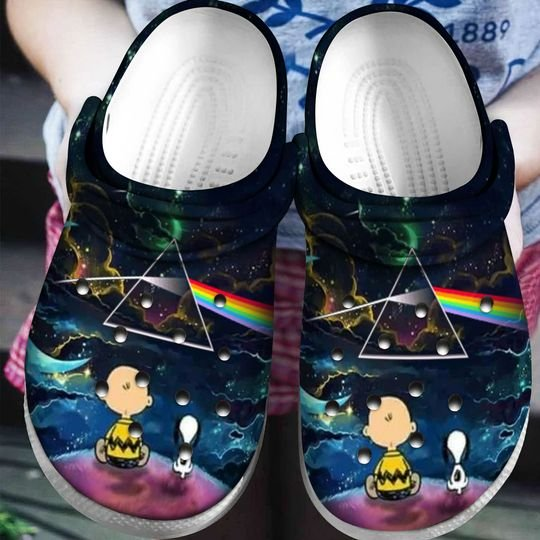 snoopy and charlie brown the dark side of the moon crocs 1 - Copy (2)