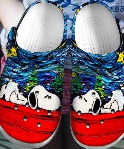 starry night vincent van gogh snoopy crocs 1 - Copy