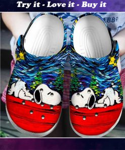 starry night vincent van gogh snoopy crocs - Copy