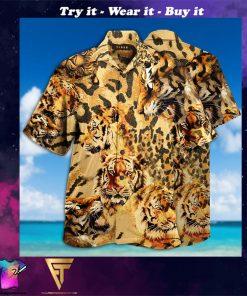 stay cool tiger full printing hawaiian shirt