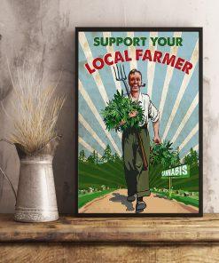 support your local farmer cannabis retro poster 4